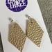 Kite vegan leather earrings - small gold