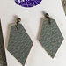 Kite vegan leather earrings - small grey