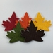 Felt Autumn Leaves Bunting
