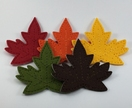 Felt Autumn Leaves Bunting