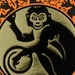 The Year of the Monkey - Lino Print Orange/Black & Gold foil (FREE POST IN NZ)