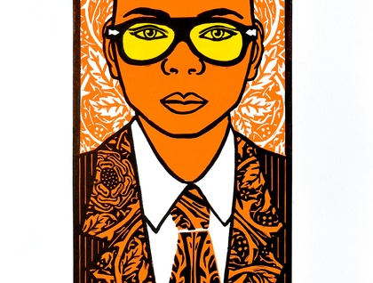Phaic Tan - Large Colour Lino Print -  limited edition
