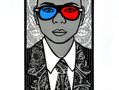 Chromophobia 3D - Large Colour Lino Print -  limited edition