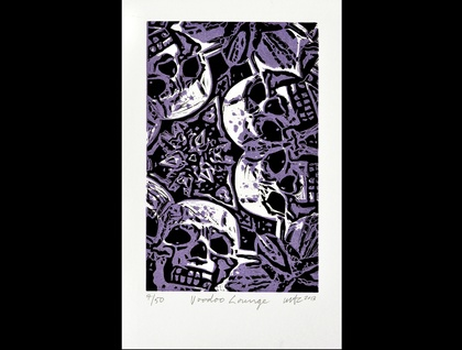 Voodoo Lounge -  Lino Print -  limited edition