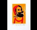 Zig Zag Man - Lino Print 3 colour small Lino print - Limited edition