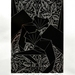 Stray Cats Chrome - limited edition lino print on silver foil