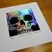Holographic Silver Foil Skull Print