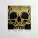 Gold Foil Skull Print