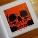 Orange Skull Print