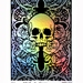 Skull & Roses - large Silver Holographic Foil Skull Print