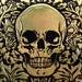 Sweet Dreams Deluxe - large Gold Foil Skull Print