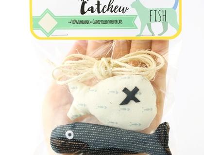 Cat toy, Catnip filled fish
