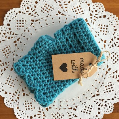 Fingerless Gloves - Turquoise Blue (18)