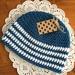 Beanie - Blue/White Stripes