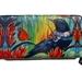 Fine Art Wallet- Tui bird and monarch butterfly