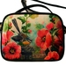 Small shoulder bag-Fantail and Hollyhocks