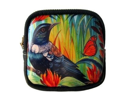 Fine Art Coin Purse- NZ Tui