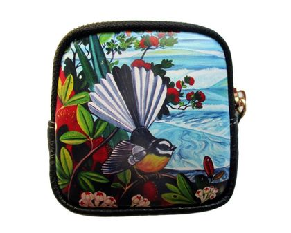Fine Art Coin Purse- Fantail and Ocean Waves