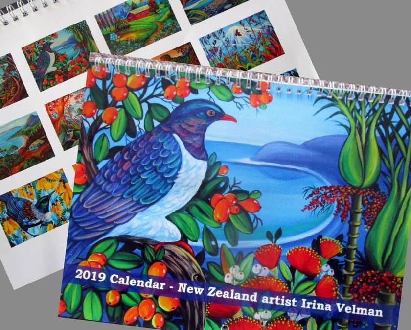 2019  Calendar- NZ artist Irina Velman