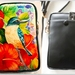 Leather Cell Phone Bag with Adjustable Strap, NZ Kingfisher