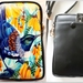 Leather Cell Phone Bag with Adjustable Strap, Tui and Kowhai