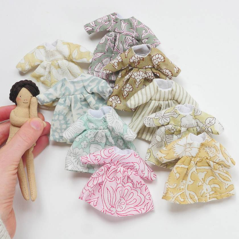 Indian Cotton Dresses  |   Little Courage Doll Outfits