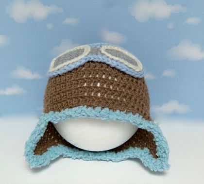 Sky Patrol Aviator Hat with Goggles