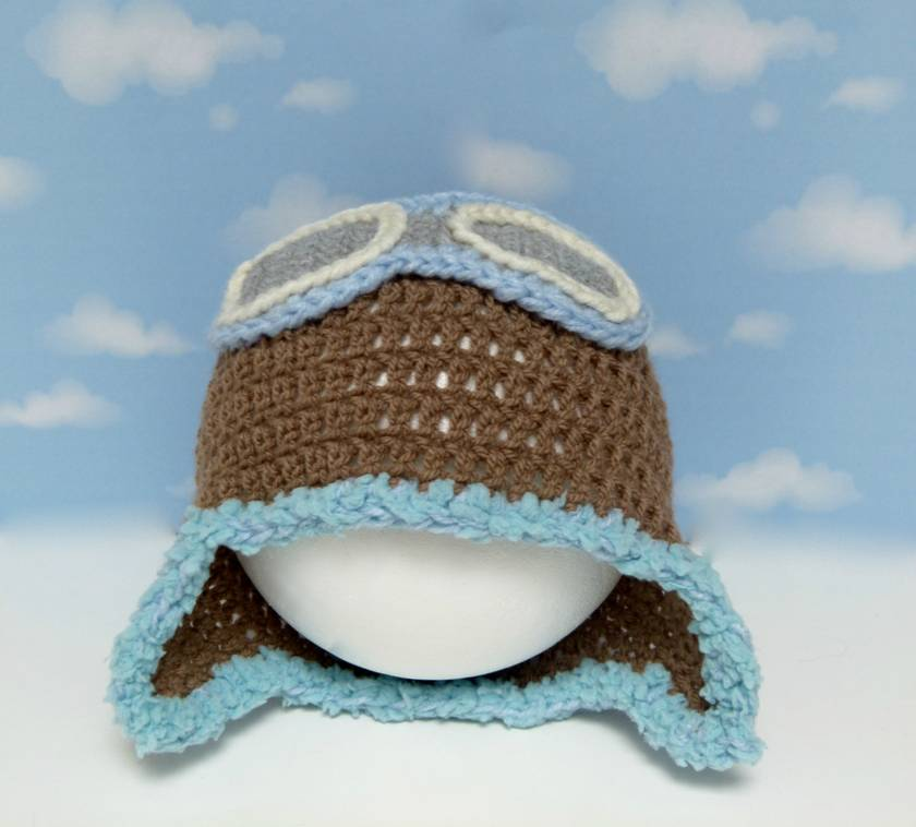 sky patrol aviator hat with goggles felt