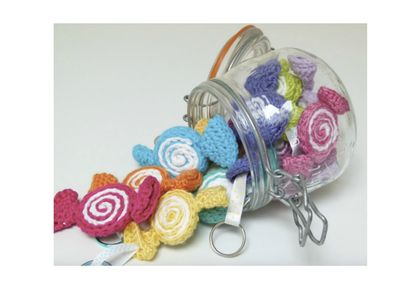 Pick 'n Mix Candy Swirl Keychain