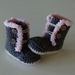 Baby Ugg Boots with Pink Trim