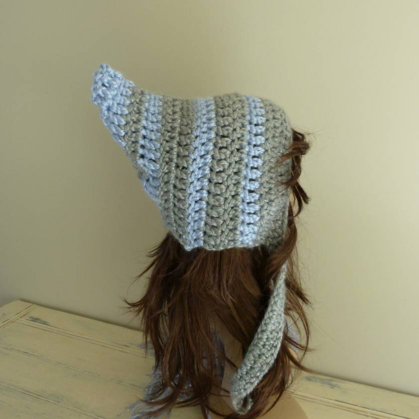 Adult Pixie/Elfin Hat with stripes   **READY TO SHIP**