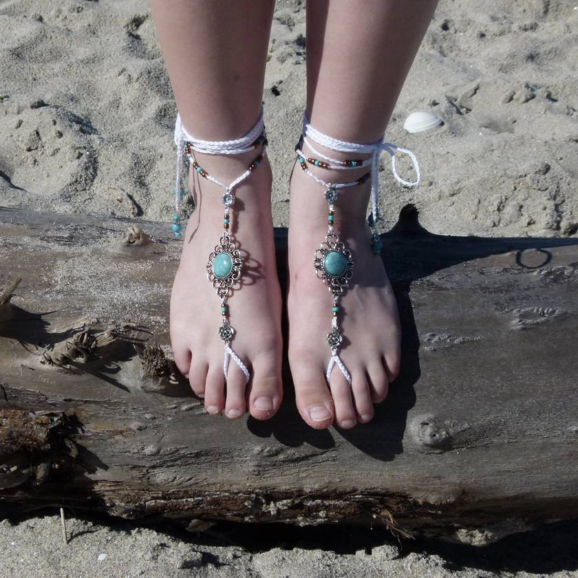 Boho & beach wedding footwear