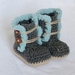 Baby Ugg Boots - blue trim