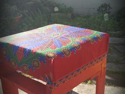 grand pouf rouge 1 felt. Black Bedroom Furniture Sets. Home Design Ideas