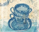 Blue Willow tea cup - Archival quality art print