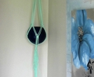 """Twisted Trixie"" macrame hanging pot holder"