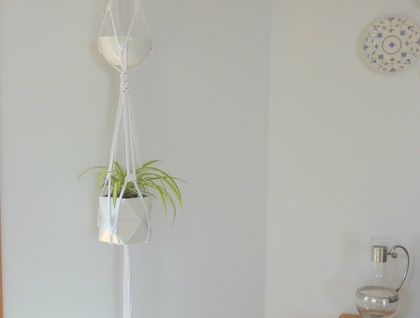 "The ""Duo"" macrame hanging plant holder"