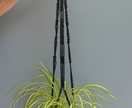 """Lacey Lotte"" macrame hanging pot plant holder"