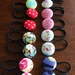 Mini Button Hair ties