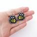 Cross Stitch Bee Earrings
