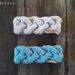 Bread Run super chunky headband in grey or sea blue - 100% NZ wool earwarmer