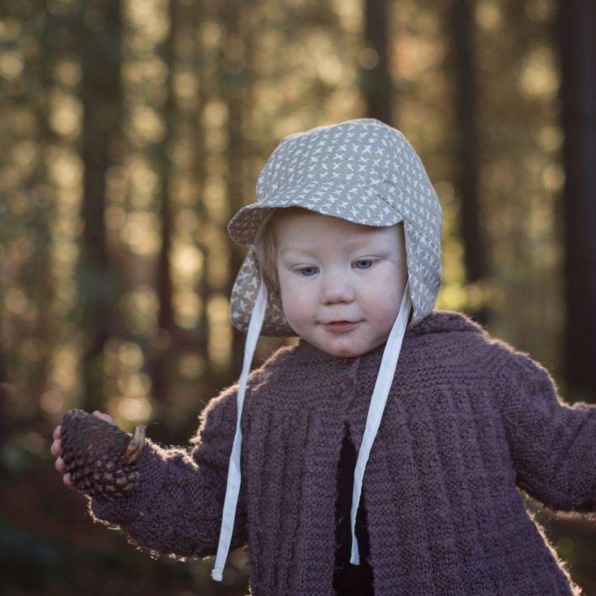 Kids Flap Organic Sunhat - choose your fabric