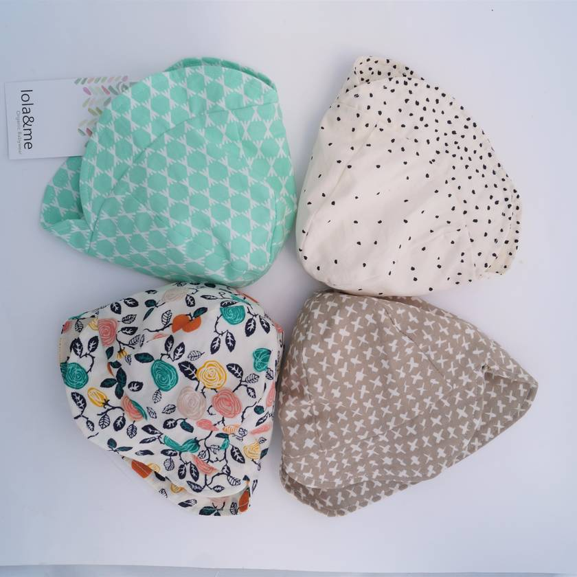 Kids Flap Organic Sunhat - choose your fabric