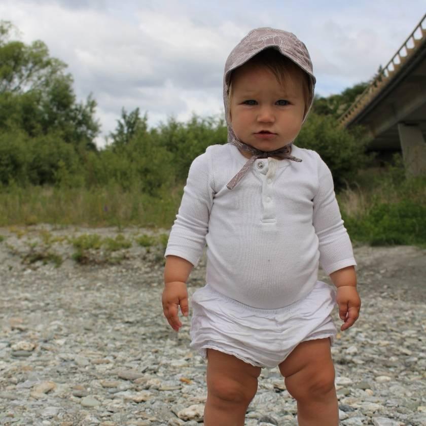 Organic Baby Sun Bonnet - choose your fabric