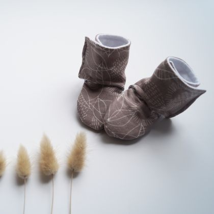 Organic Stay-on Baby Booties - choose your fabric