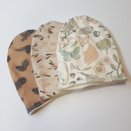 Merino Organic Slouch Beanie - choose your fabric