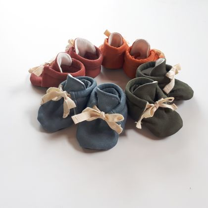 Organic Baby Booties - choose your fabric