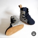 Gold Spots Hightop Boots Soft Sole Baby Toddler Shoes Lace Up | Boxing Boots | Matellic Gold on Grey