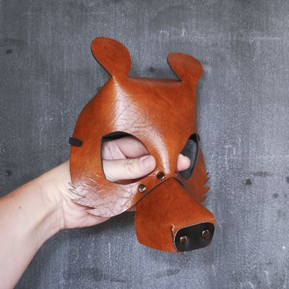 Brown Bear Dress up Mask