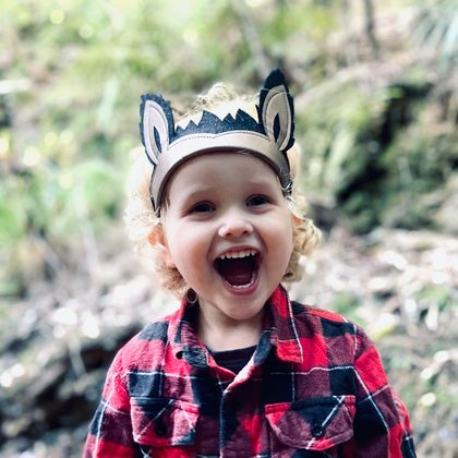 Wolf Ears Nature Crown | Kids Dress up